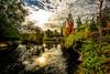 Sun reflection at Kathrynne Albertson Park