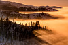 Inversion Fog above Boise at Sunrise