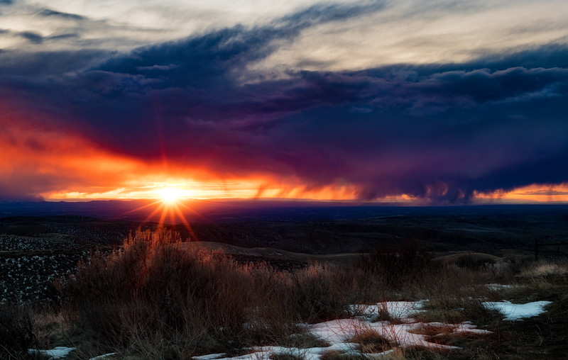 Sunset over the Boise Valley from the foothills
