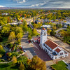 Aerial view of Boise Train Depot in the fall