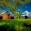 Fairfield Barn with Cloudy Sky