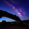 Devils Arch in Escalante Utah with Milky Way