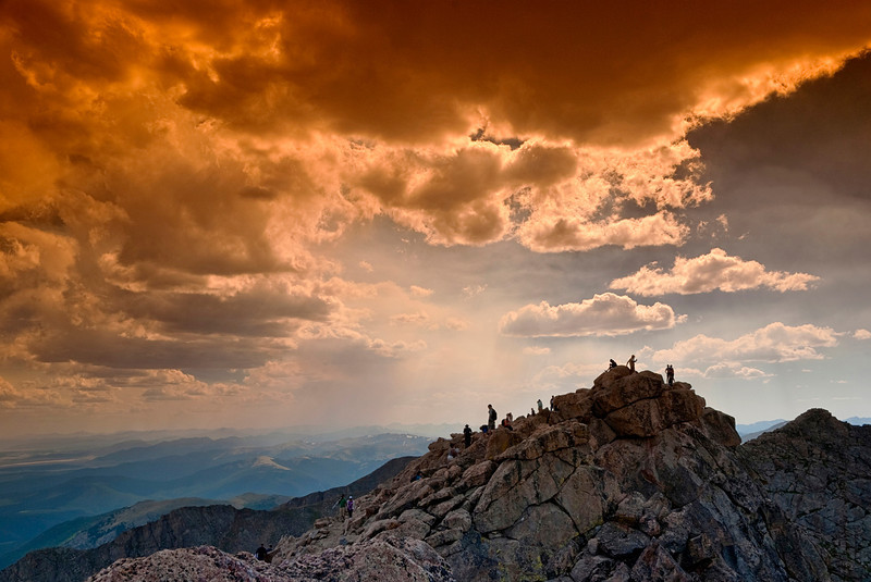 Climbers on Mt. Evans