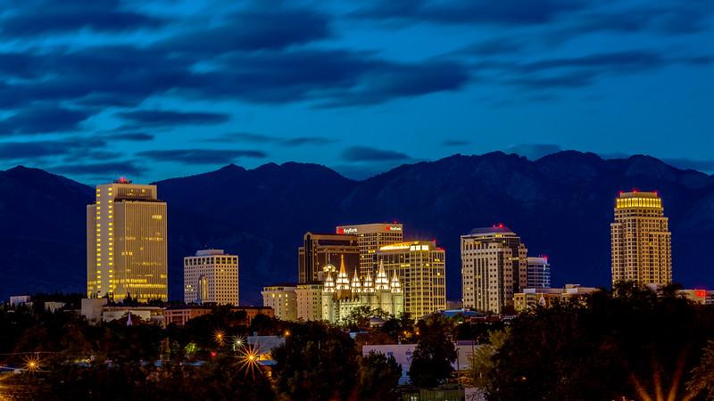 Salt Lake City Utah at Night