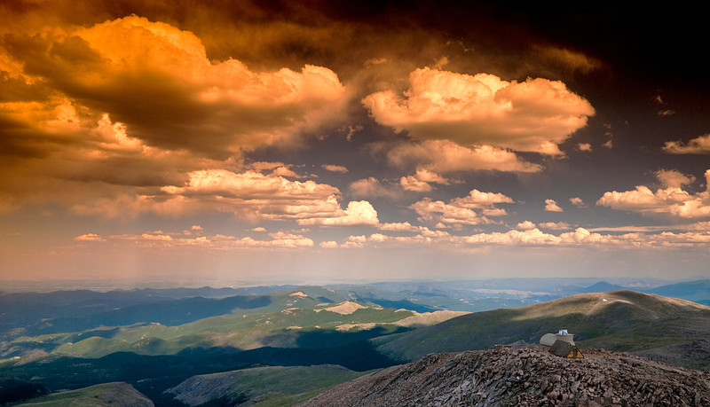 Colorado Vista can be seen from this point on Mt Evans.
