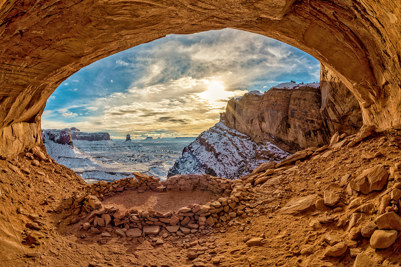 False Kiva Winter in Late Afternoon