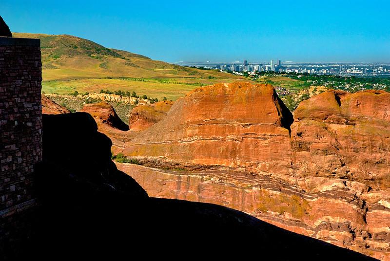 Red Rocks and Denver Skyline