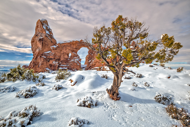 Turret Arch Winter Morning