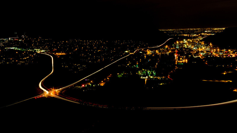 Golden Colorado and Coors Night Shot