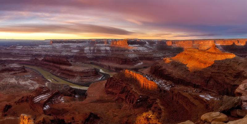 Sunrise at Dead Horse Point Canyon Lands Utah