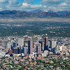 Denver city seen from an airplane