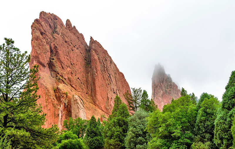 Rock formations at the Garden of the Gods Colorado