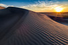 Sunset over Rippled Sand Dune