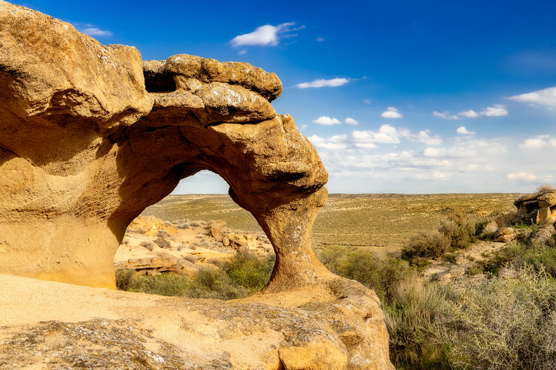 Unique arch formed in Oolite from erosion