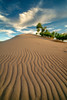Ripples in the sand leads to the heavens