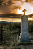 Shoo Fly desert Cemetery sunset beyond the cross