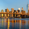 Brooklyn Bridge and New York Skyline reflection