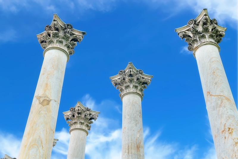 Original sandstone Pillars from the Capital building