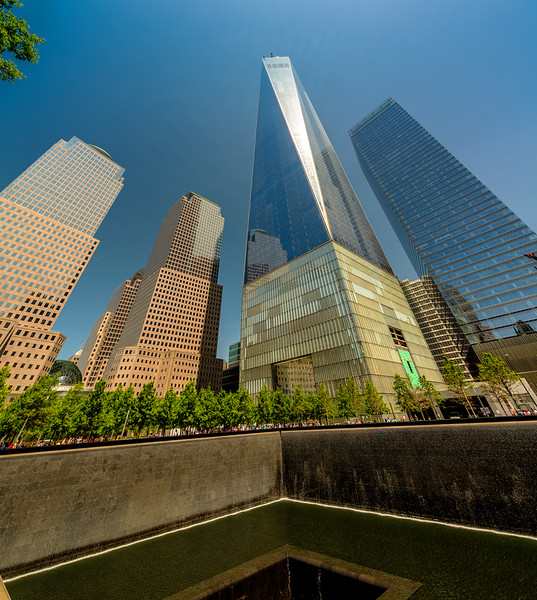 Freedom Tower and 911 memorial