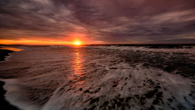Sunrise at Long Beach New Jersey beach