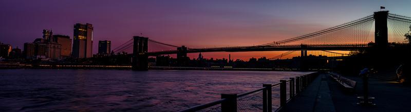 Brooklyn Bridge New York sunrise