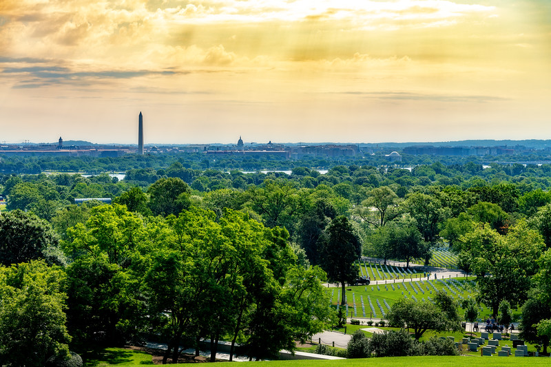 Washing DC as seen from Arlington Cemetery