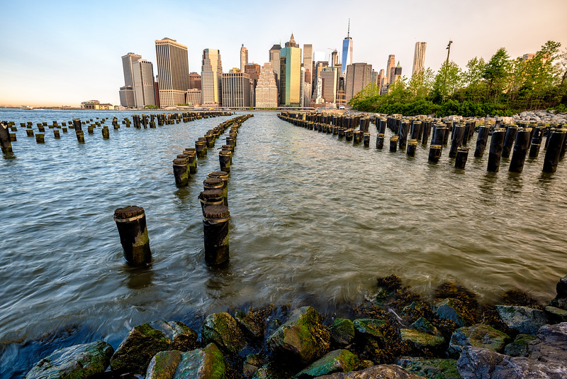 New York skyline morning from Brooklyn