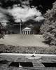 Robert E. Less house on a hill over Arlington cemetery