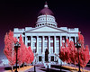 State Capital of Utah and statue Infrared