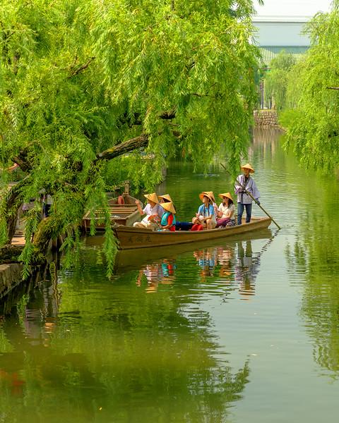 Kurashiki Japan in the summer boat rides