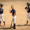 Little League baseball players on deck in Japan