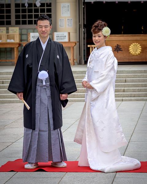 Japanese wedding at the Hiroshima Castle