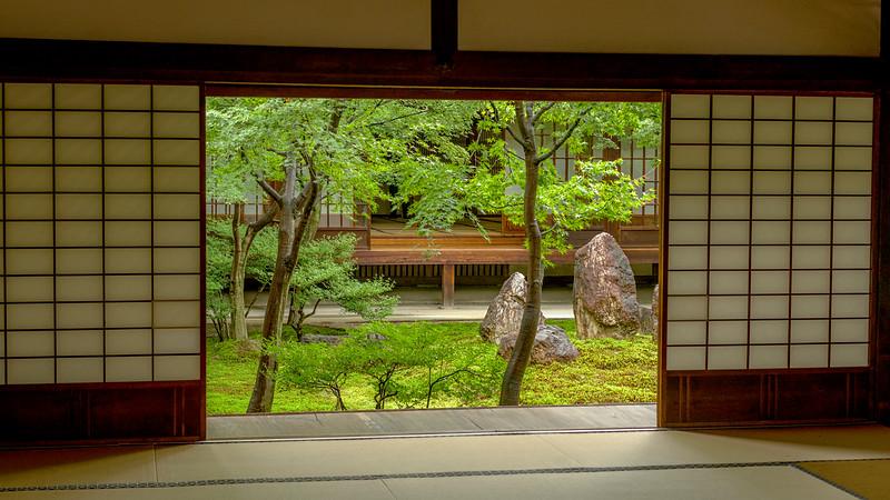 Garden quart yard at Kennin-Ji Temple