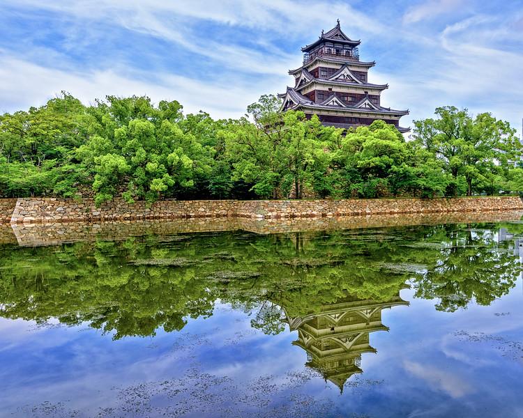 Hiroshima Castle and reflection