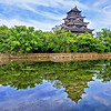 Hiroshima Castle and reflection