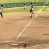 Batter gets caught out in little league practice in Saijo Japan