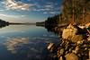 Cloud reflection Payette Lake Idaho