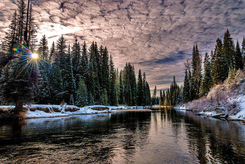 North Fork of Payette winter morning