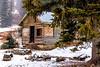 Remote Cabin near Twin Lakes Idaho in winter