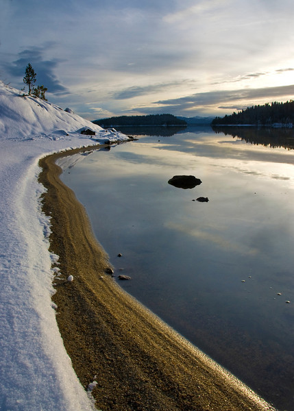 Winter Lake Shore Payette Lake Idaho