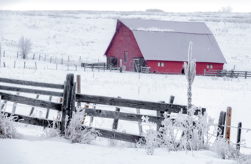 Red Barn winter McCall airport