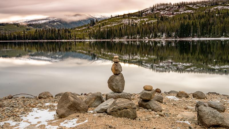 Stack Rocks Upper Payette Lake