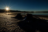 Sunrise over Little Payette Lake winter with sunstar