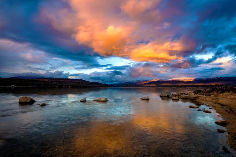 Sunset Payette Lake near McCall Idaho