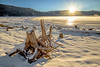 Sunrise over a clear and cold Little Payette Lake