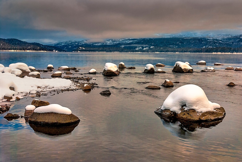 Payette Lake McCall Idaho in the winter