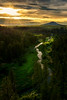 Sunset over the Palouse River with Steptoe Butte backdrop