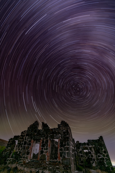 Star trail at Wickahoney toll station