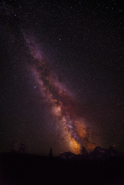 Milky Way over McGown Peak at Stanley Lake