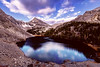 Merriam Lake with Mt Idaho and clouds reflection
